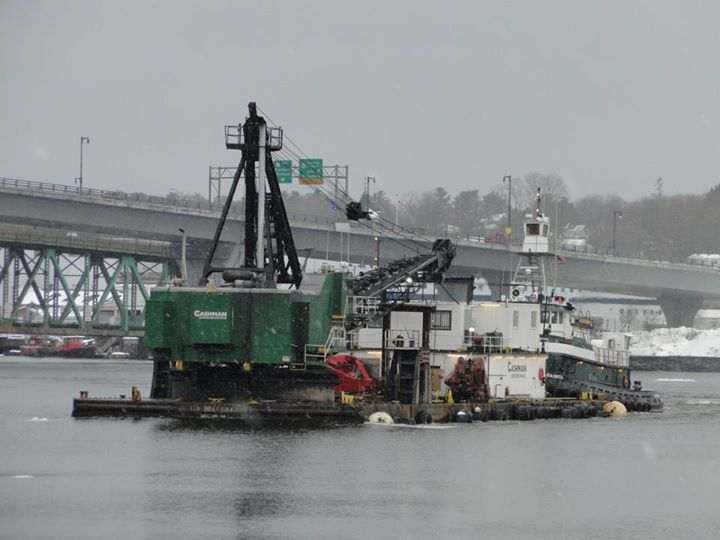Bath Iron Works Sinking Basin Maintenance Dredging 2013