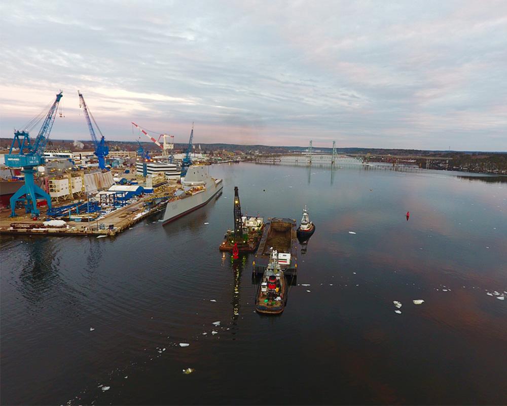 Bath Iron Works Sinking Basin Maintenance Dredging 2017