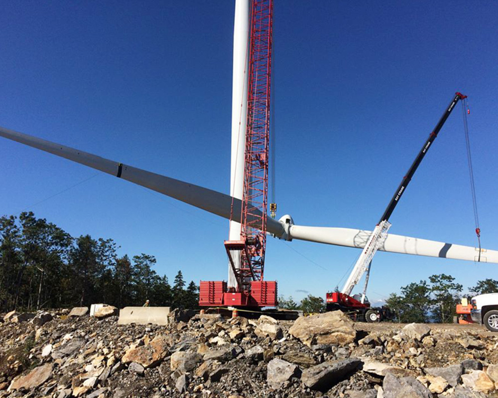 Canton Mountain Wind Farm Jay Cashman Inc