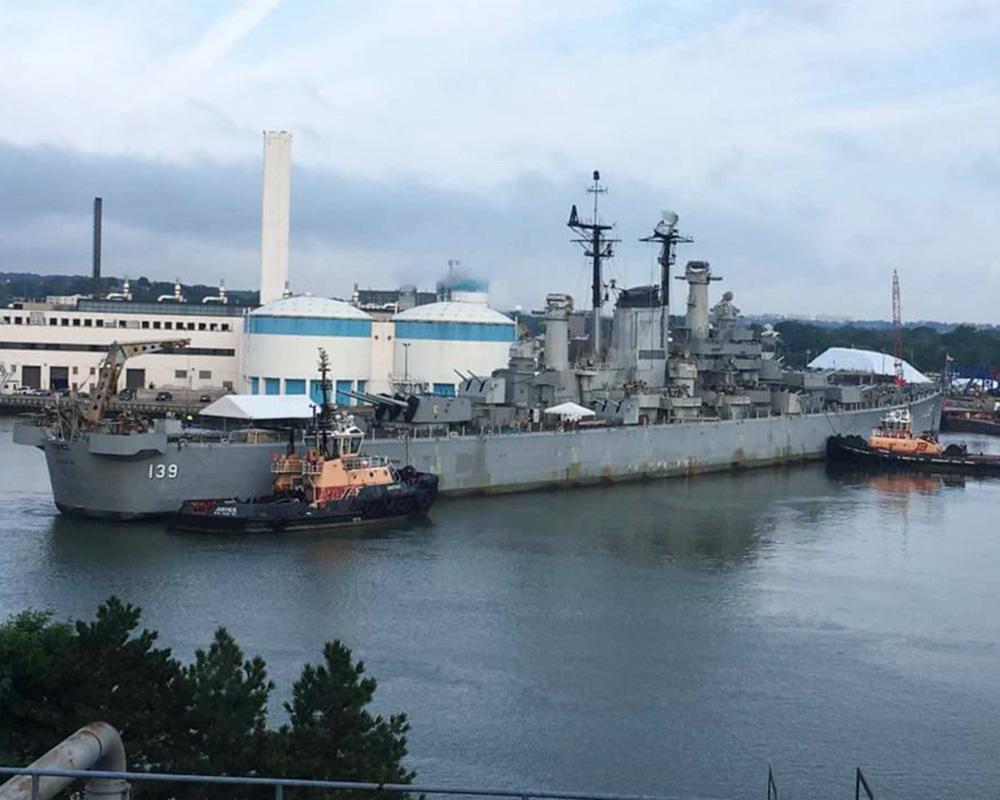 USS Salem Berth Construction
