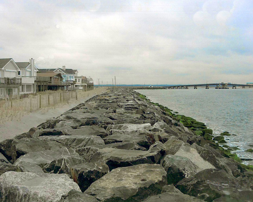 Cape May New Stone Seawall Construction