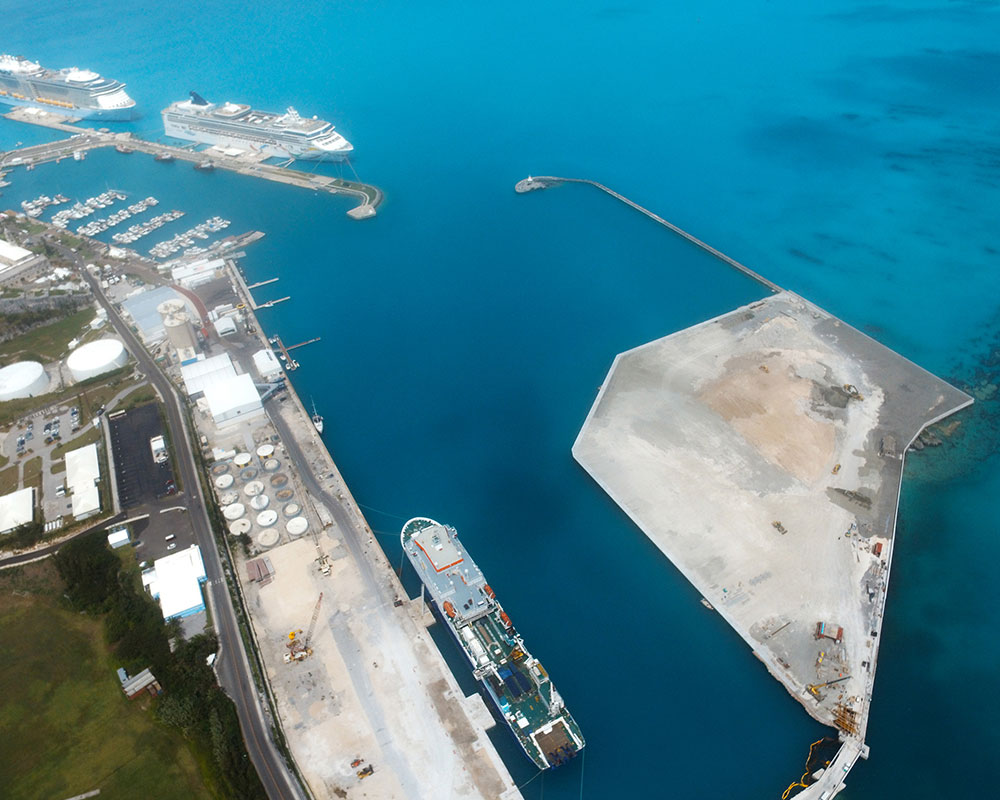 2017 America's Cup 'Cross Island' Land Reclamation, Bermuda