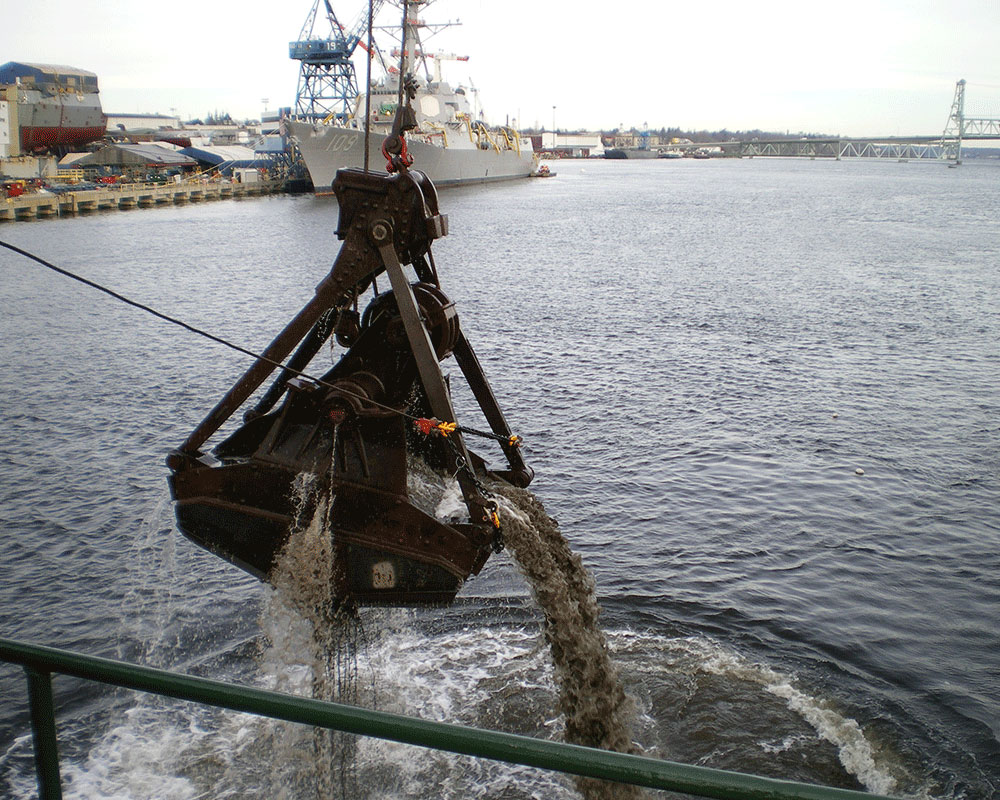 Bath Iron Works Sinking Basin Maintenance Dredging 2009